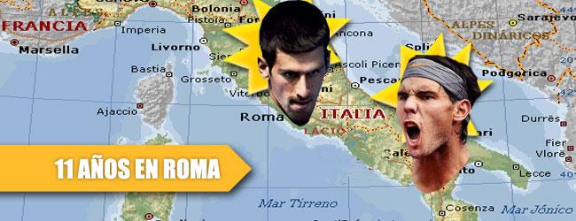 11 años de dominio Nadal-Djokovic en Roma