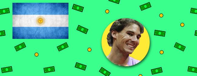 Nadal máquina de dinero en Argentina