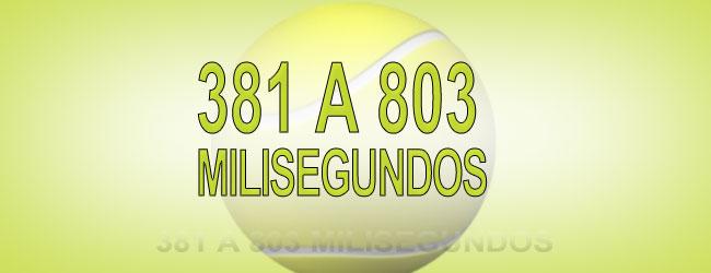 381 A 803 MILISEGUNDOS