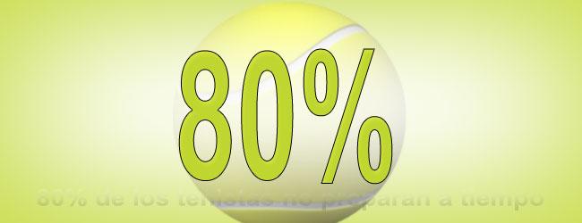 80% de los tenistas no preparan a tiempo