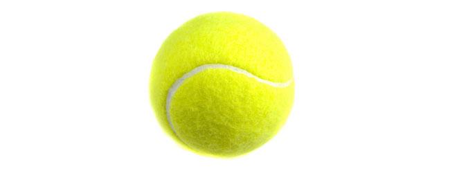 La bola de tenis está entre los proyectiles más veloces del deporte