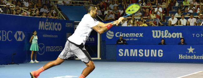 Con 25 servicios ases, Kyrgios elimina a Djokovic