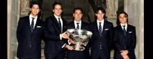 Cuatro dandis del tenis celebran en grande el ganar la Copa Davis